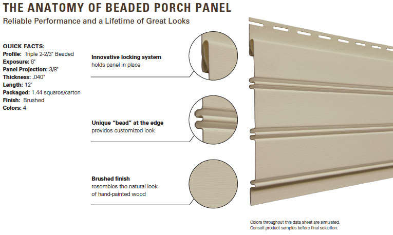Beaded Porch Panel Vytec